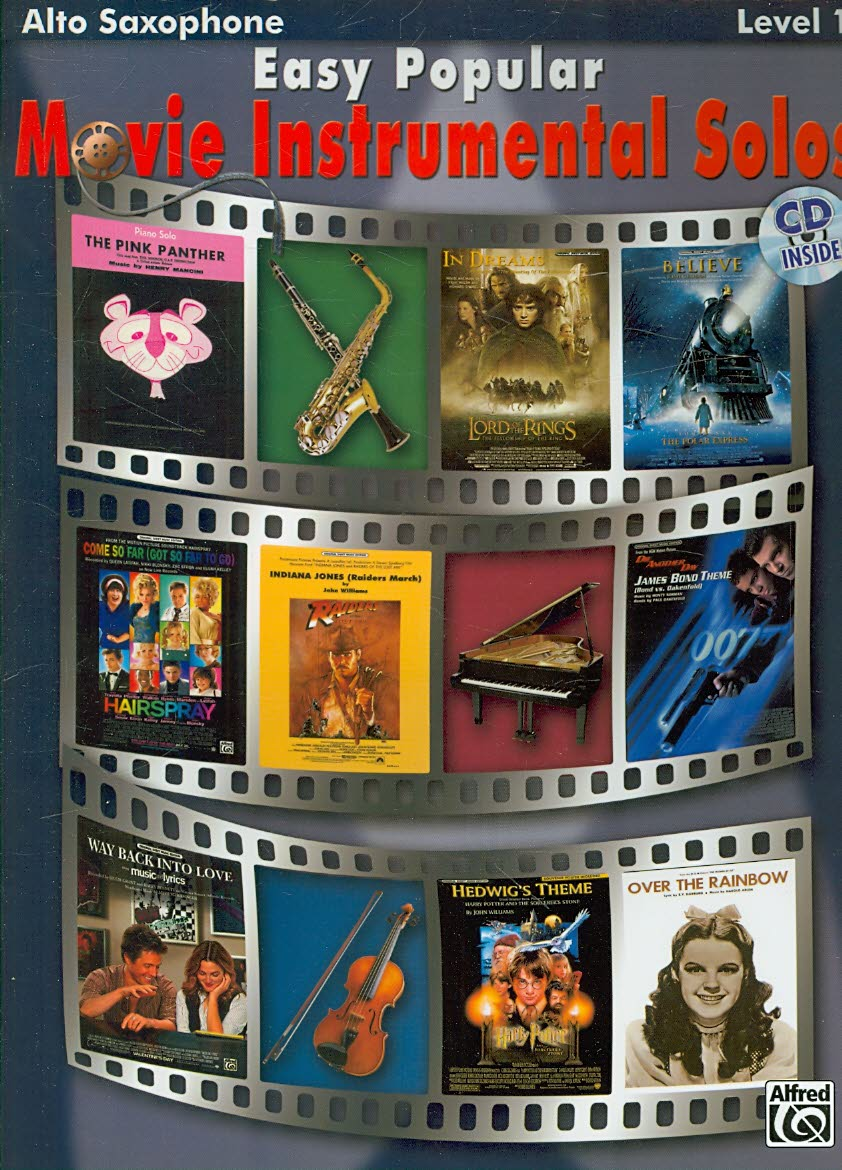 Easy Popular Movie Instrumental Solos By Alfred Publishing (COR)